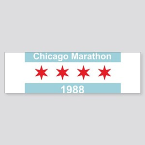 1988 Chicago Marathon Sticker (Bumper)