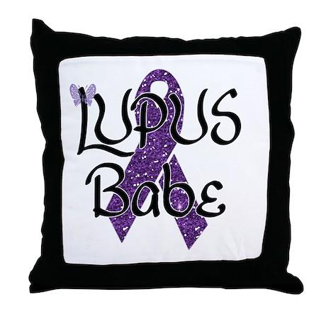 Lupus Babe Throw Pillow