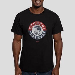 JFK for President Men's Fitted T-Shirt (dark)