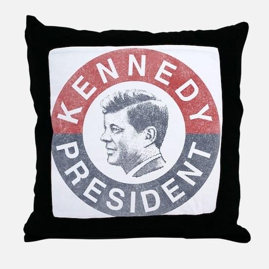 JFK for President Throw Pillow