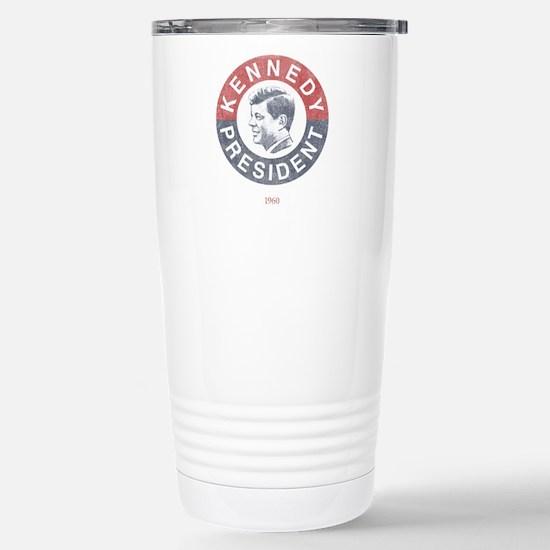 JFK for President Stainless Steel Travel Mug