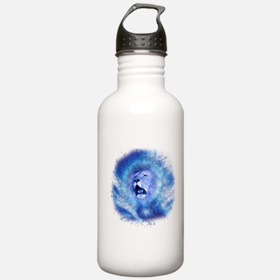 Funny White lion Water Bottle