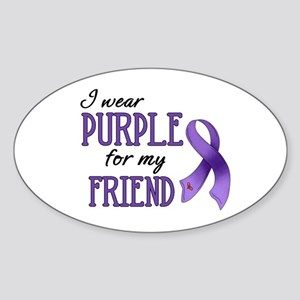 Wear Purple - Friend Sticker (Oval)