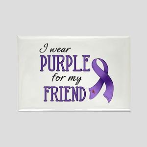 Wear Purple - Friend Rectangle Magnet
