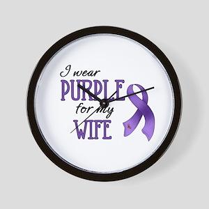 Wear Purple - Wife Wall Clock