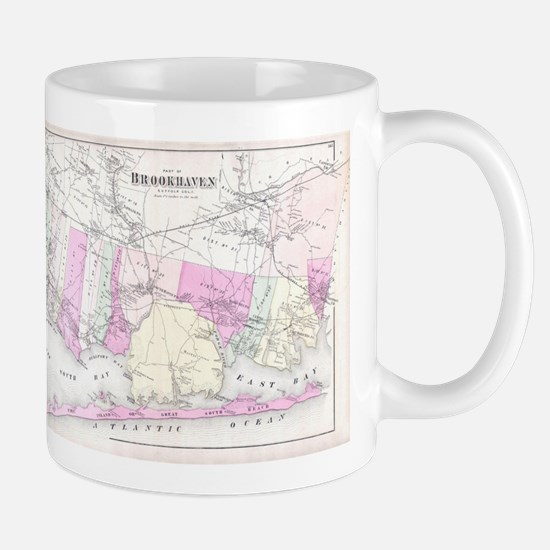 Vintage Brookhaven and Fire Island NY Map (18 Mugs