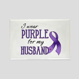 Wear Purple - Husband Rectangle Magnet