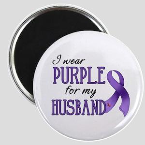 Wear Purple - Husband Magnet