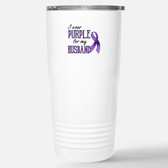 Wear Purple - Husband Stainless Steel Travel Mug