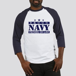 Proud Navy Father In Law Baseball Jersey