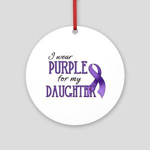 Wear Purple - Daughter Ornament (Round)