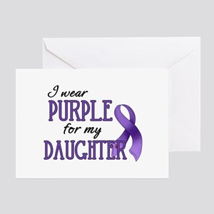 Wear Purple - Daughter Greeting Card