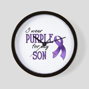 Wear Purple - Son Wall Clock