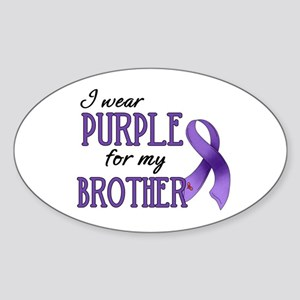 Wear Purple - Brother Sticker (Oval)