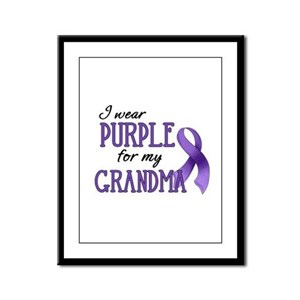 Wear Purple - Grandma Framed Panel Print