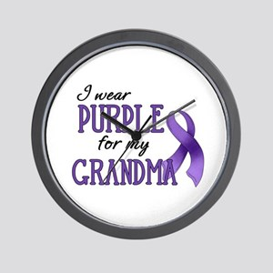 Wear Purple - Grandma Wall Clock
