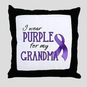 Wear Purple - Grandma Throw Pillow