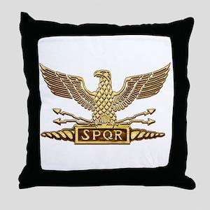 Gold Legion Eagle Throw Pillow