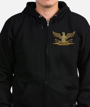 Gold Legion Eagle Zip Hoodie (dark)
