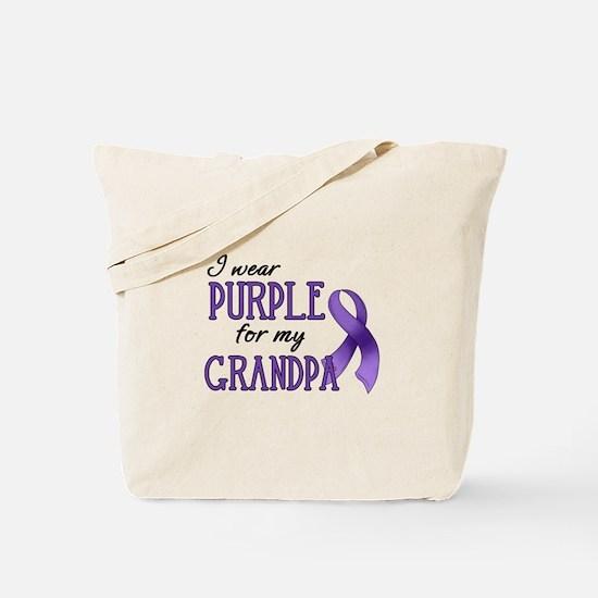 Wear Purple - Grandpa Tote Bag
