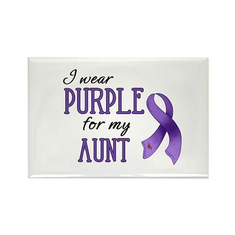 Wear Purple - Aunt Rectangle Magnet (10 pack)