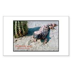 Gila Monster Lizard Photo Rectangle Decal