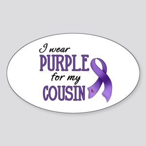 Wear Purple - Cousin Sticker (Oval)