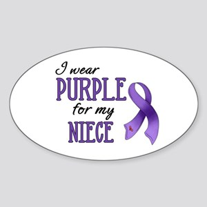 Wear Purple - Niece Sticker (Oval)