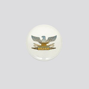 Chrome Roman Eagle Mini Button