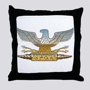 Chrome Roman Eagle Throw Pillow