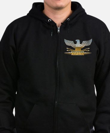 Chrome Roman Eagle Zip Hoodie (dark)
