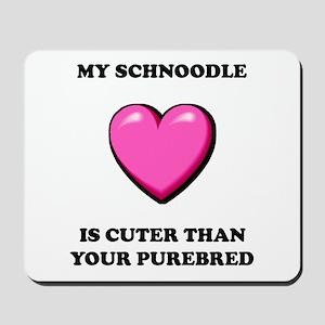 Cute Schnoodle Mousepad