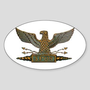 Roman Eagle in Copper Sticker (Oval)