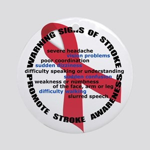 Stroke Warning Signs Ornament (Round)