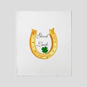 Good Luck Horseshoe Throw Blanket