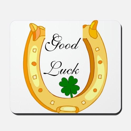Good Luck Horseshoe Mousepad