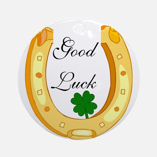Good Luck Horseshoe Ornament (Round)