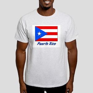 PUERTO RICO FLAG Ash Grey T-Shirt
