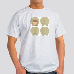 One of These Hippos! Ash Grey T-Shirt