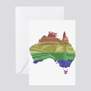 Australia Gay Pride Flag Greeting Cards