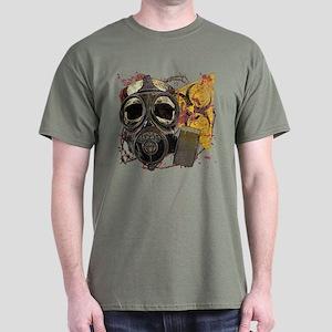 Gasmask Skull Apocolypse Dark T-Shirt