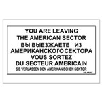 Leaving The American Sector Large Poster