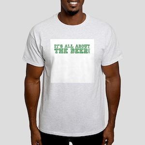 Green and Silver Ash Grey T-Shirt