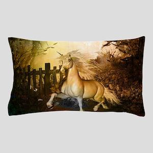Wonderful white unicorn in the night Pillow Case