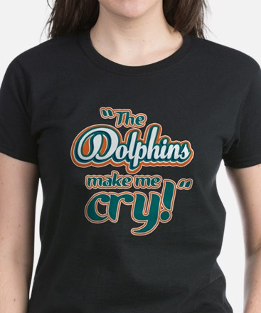 The Dolphins make me cry Women's Dark T-Shirt