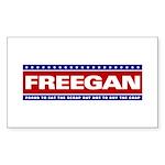 FREEGAN Rectangle Sticker