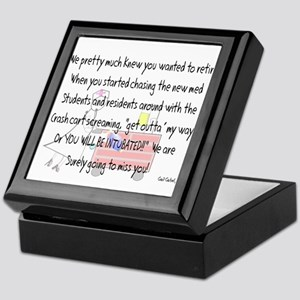 Retired Nurse Story Art Keepsake Box