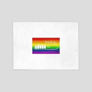LOADING 50% Gay rainbow art 5'x7'Area Rug