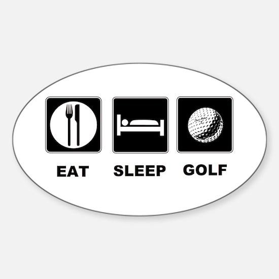 Eat Sleep Golf Sticker (Oval)