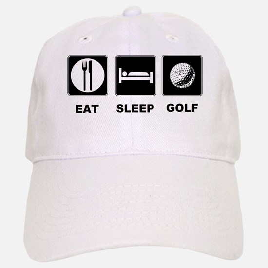 Eat Sleep Golf Baseball Baseball Cap